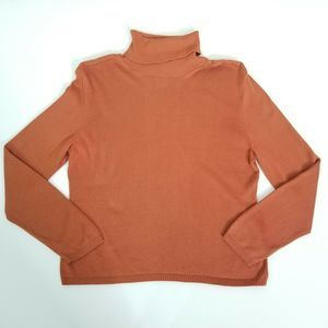 Talbots Orange Mock Neck Long Sleeve Sweater MP